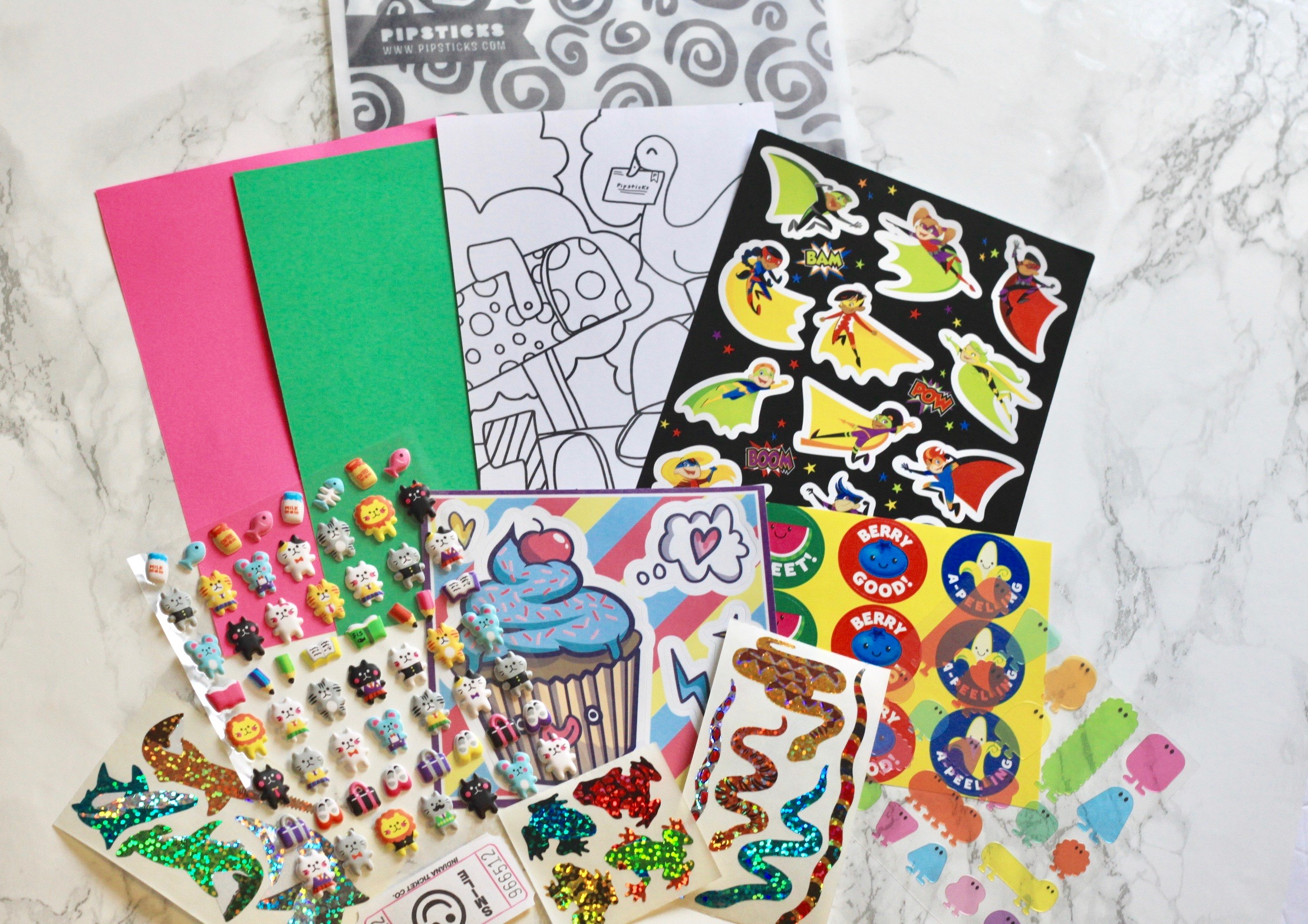 Pipsticks Kids Sticker Subscription Review May 2017