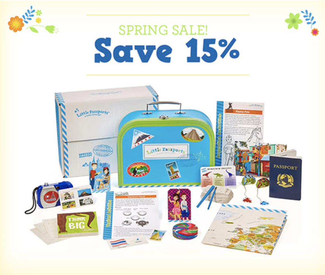 Little Passports Spring Sale! 15% off Coupon!