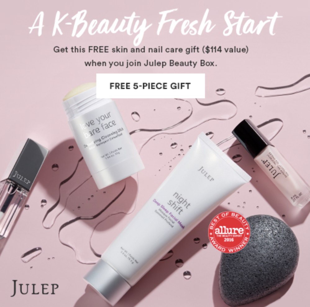Julep FREE 5-Piece K-beauty Gift Set with Subscription – A $114 Value!