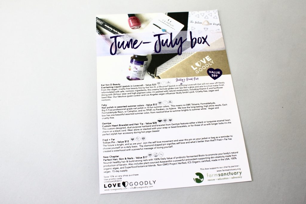 Love GOODLY Subscription Box Review June/July