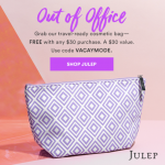 Julep Lilac Travel Cosmetic Bag FREE with $30 purchase!