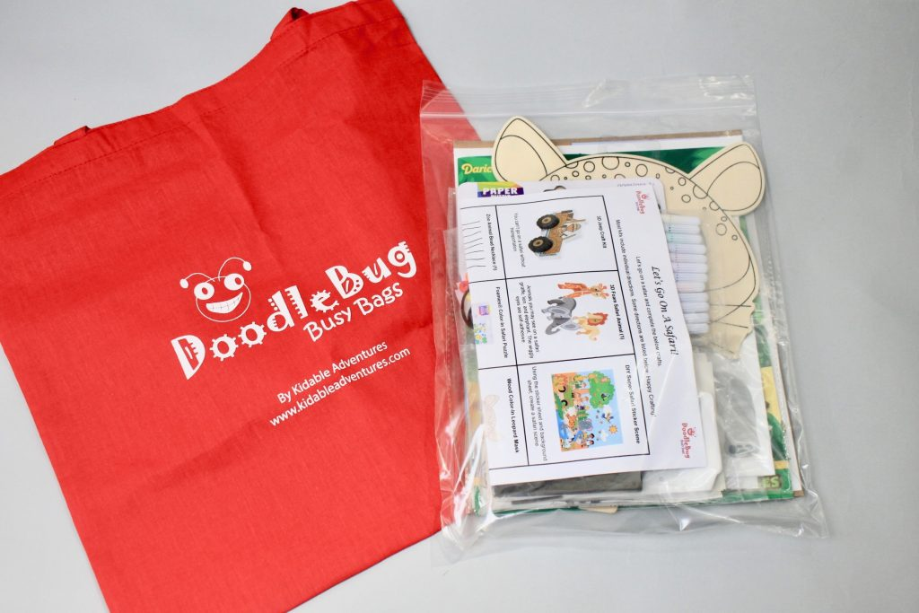 DoodleBug Busy Bag Subscription Review Kidable Adventures - August 2017