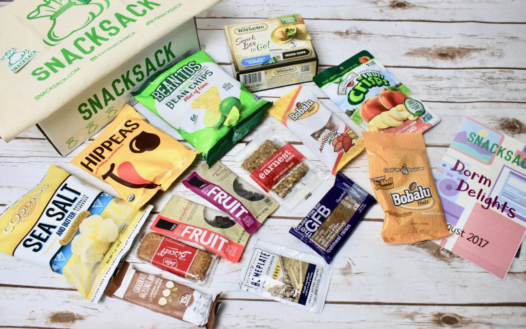 SnackSack Subscription Box Review + Coupon – August 2017