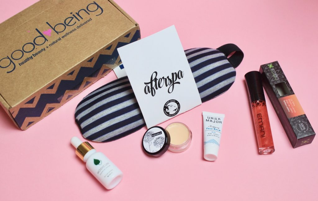 Goodbeing Subscription Box Review October 2017