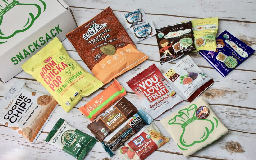 SnackSack Subscription Box Review + GIVEAWAY – September 2017