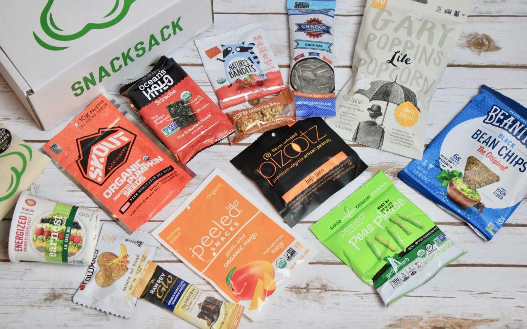 SnackSack Vegan Subscription Box Review + Coupon – October 2017