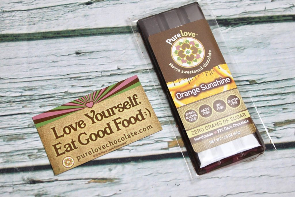 Pure Love Orange Sunshine Dark Chocolate Sleek Treat Subscription Box Review