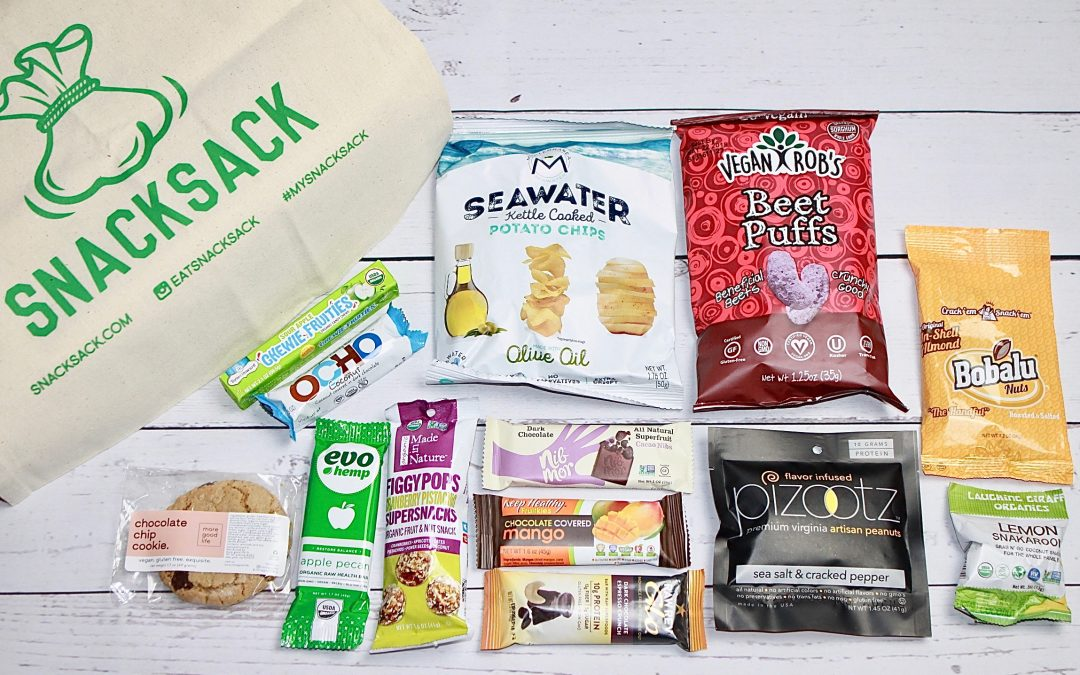 SnackSack Vegan February 2018 Subscription Box Review + Coupon