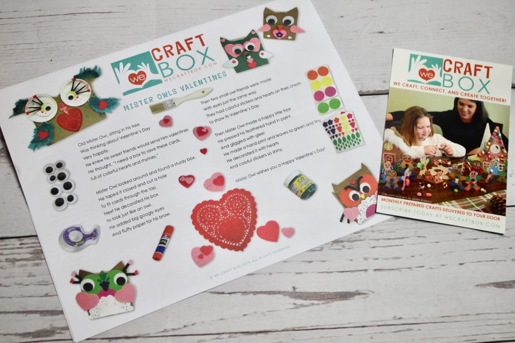 We Craft Box February 2018 Kids Subscription Review Coupon This