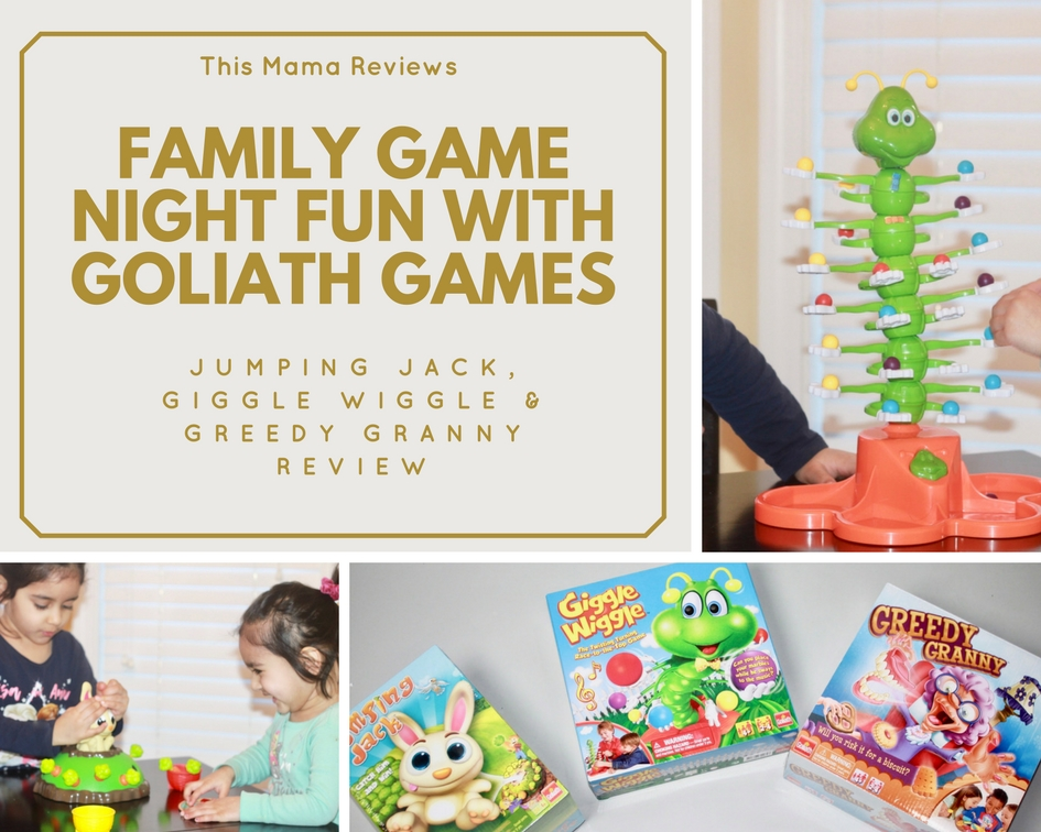 Family Game Night - Goliath Games Review (Jumping Jack Game, Giggle Wiggle & Greedy Granny)