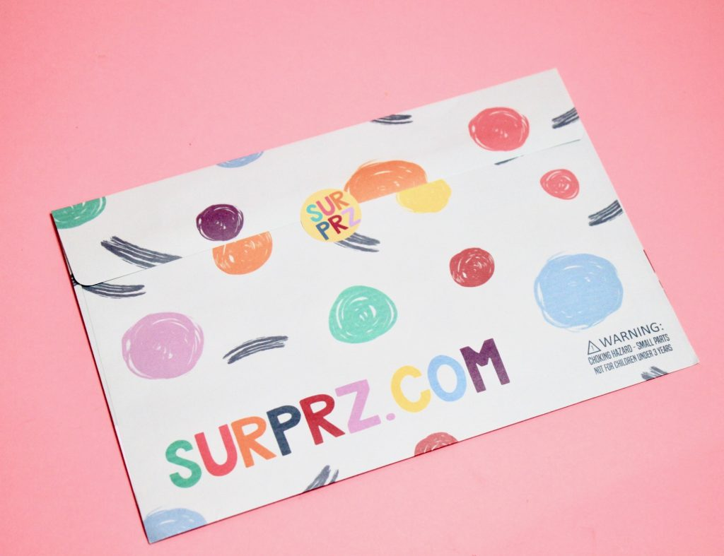 Surprz Personalized Sticker Subscription Review - March 2018