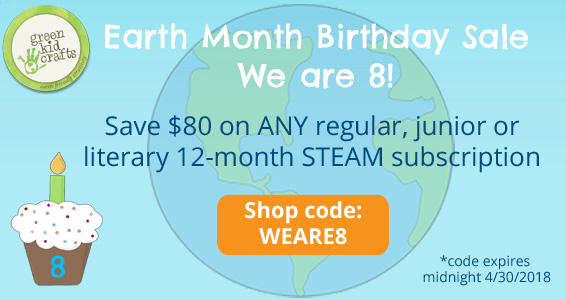 Green Kid Crafts – Earth Month Birthday Sale Save $80!