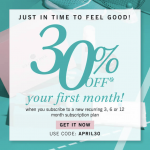 Glossybox 30% off First Month Coupon Code