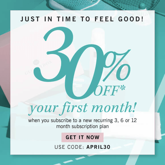 Glossybox 30% off Your First Month Coupon Code