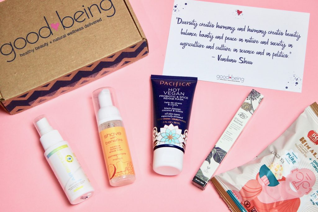 Goodbeing April 2018 Subscription Box Review + Coupon Code unboxing