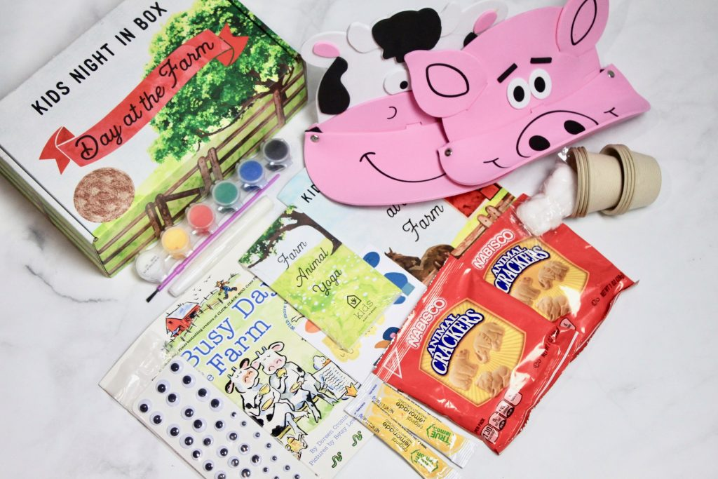 Kids Night In Box April 2018 Subscription Review - A Day At A Farm