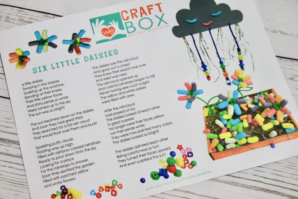 We Craft Box Kids Subscription April 2018 Review + Coupon Code