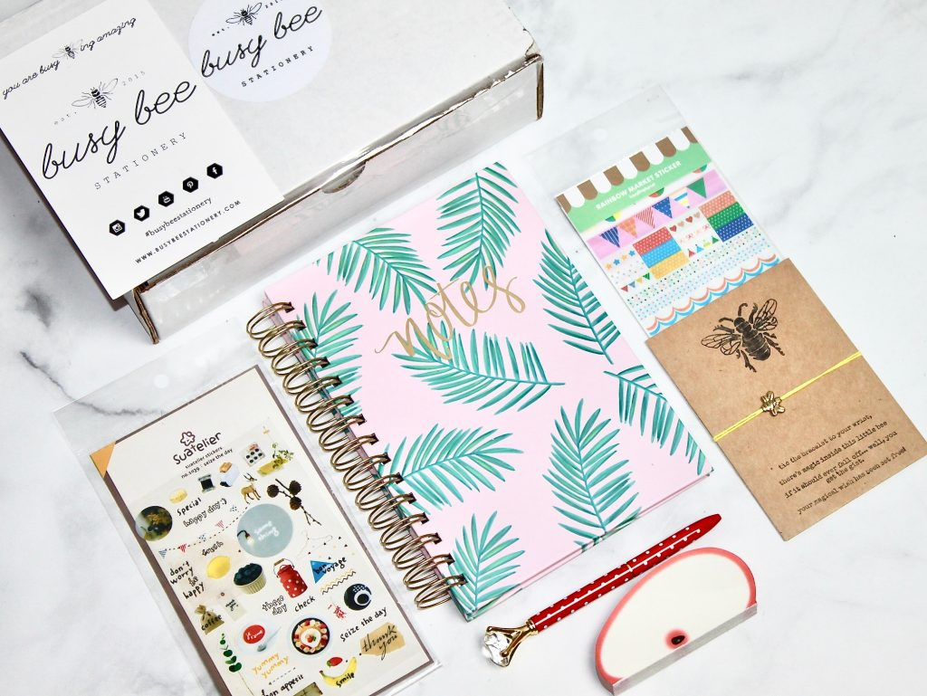 Busy Bee Stationery May 2018 Subscription Box Review