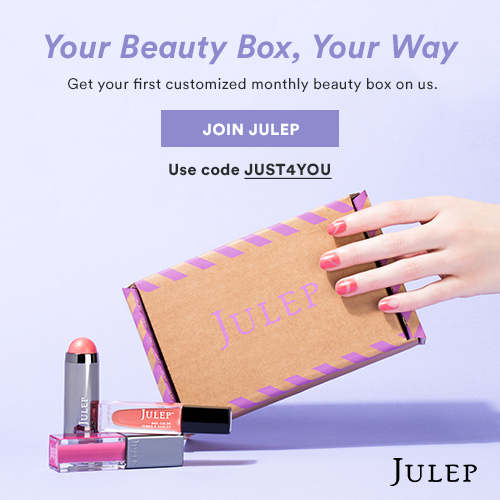 Julep – Get Your First Customized Monthly K-Beauty Box (First Box Free) Coupon Code!