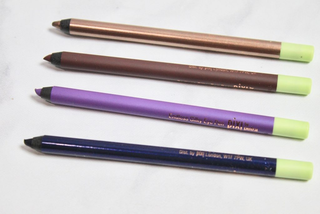 Endless Silky Eye Pens - Pixi Beauty Lash & Line Love - Review Swatches