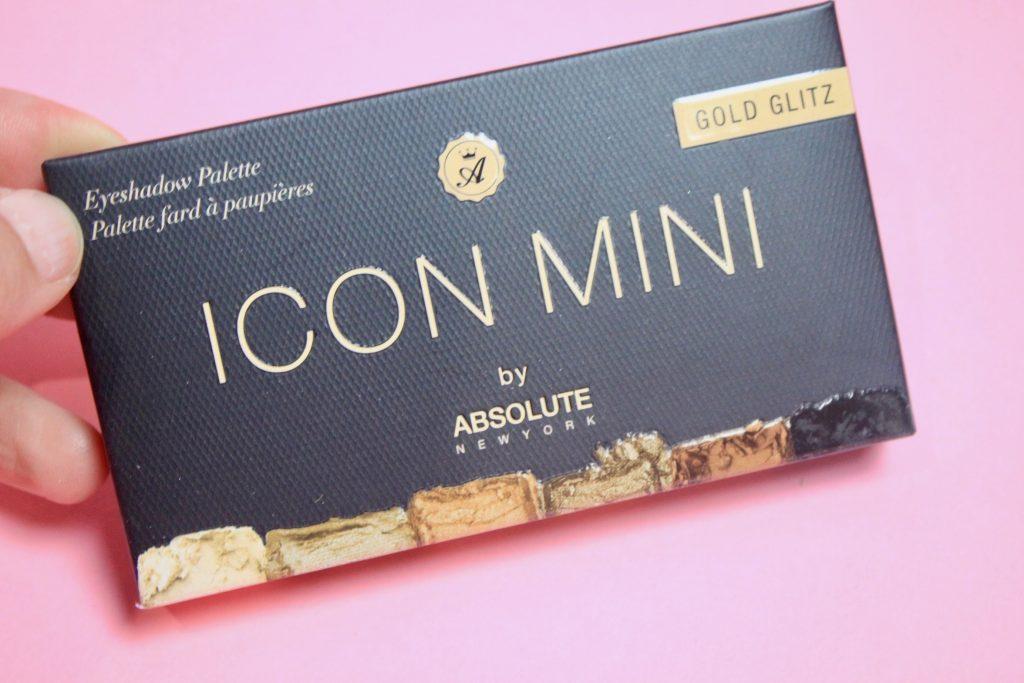 Icon Mini Eyeshadow Palette in Gold Glitz