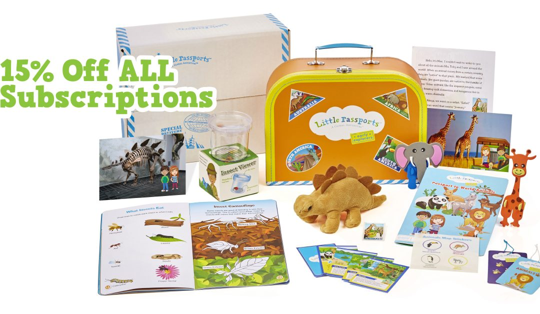 Little Passports Deal: 15% Off All Subscriptions! July 2018 Coupon Code
