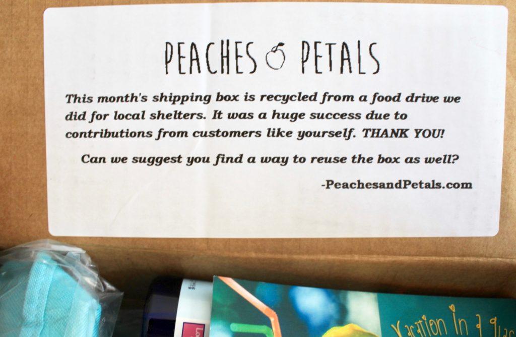 Peaches & Petals June 2018 Subscription Box Review + Coupon Code