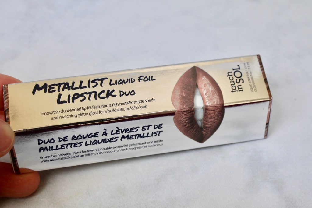 Metallist Liquid Foil Lipstick Duo in Penny Swatch