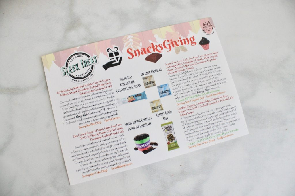 Sleek Treat November 2018 Subscription Box Review
