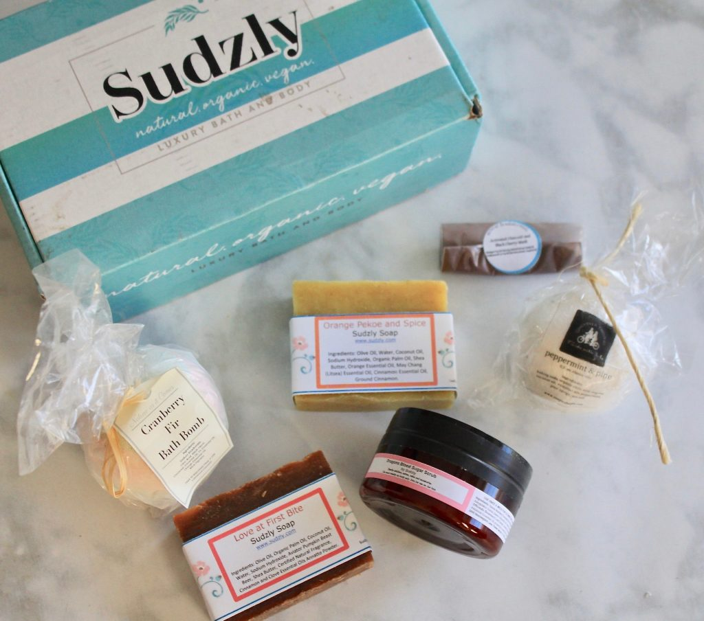 Sudzly October 2018 Organic Soaps & Natural Bath Bombs Subscription Review