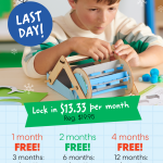 KiwiCo – FINAL HOURS: 12/24 Delivery + 3 Months for $39.95 Coupon