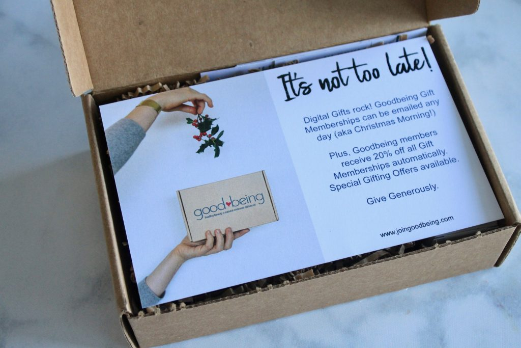 Goodbeing December 2018 Subscription Box Review + Coupon Code